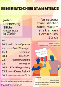 Feministischer Stammtisch: Vernetzung an den Hochschulen @ Kleine Freiheit