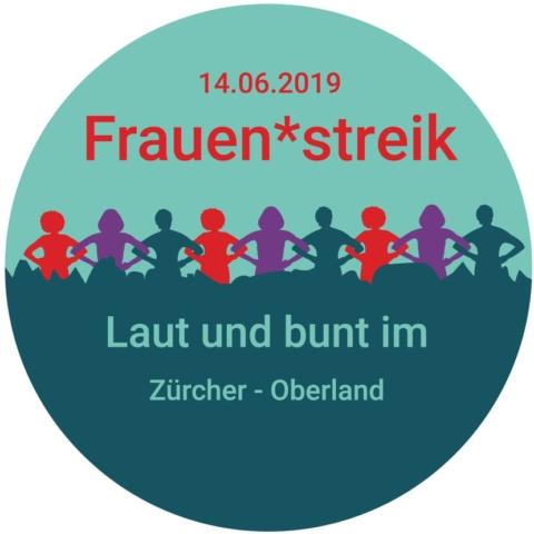 Pin. 14.06.2019 Frauen*streik. Laut und bunt im Zürcher Oberland.