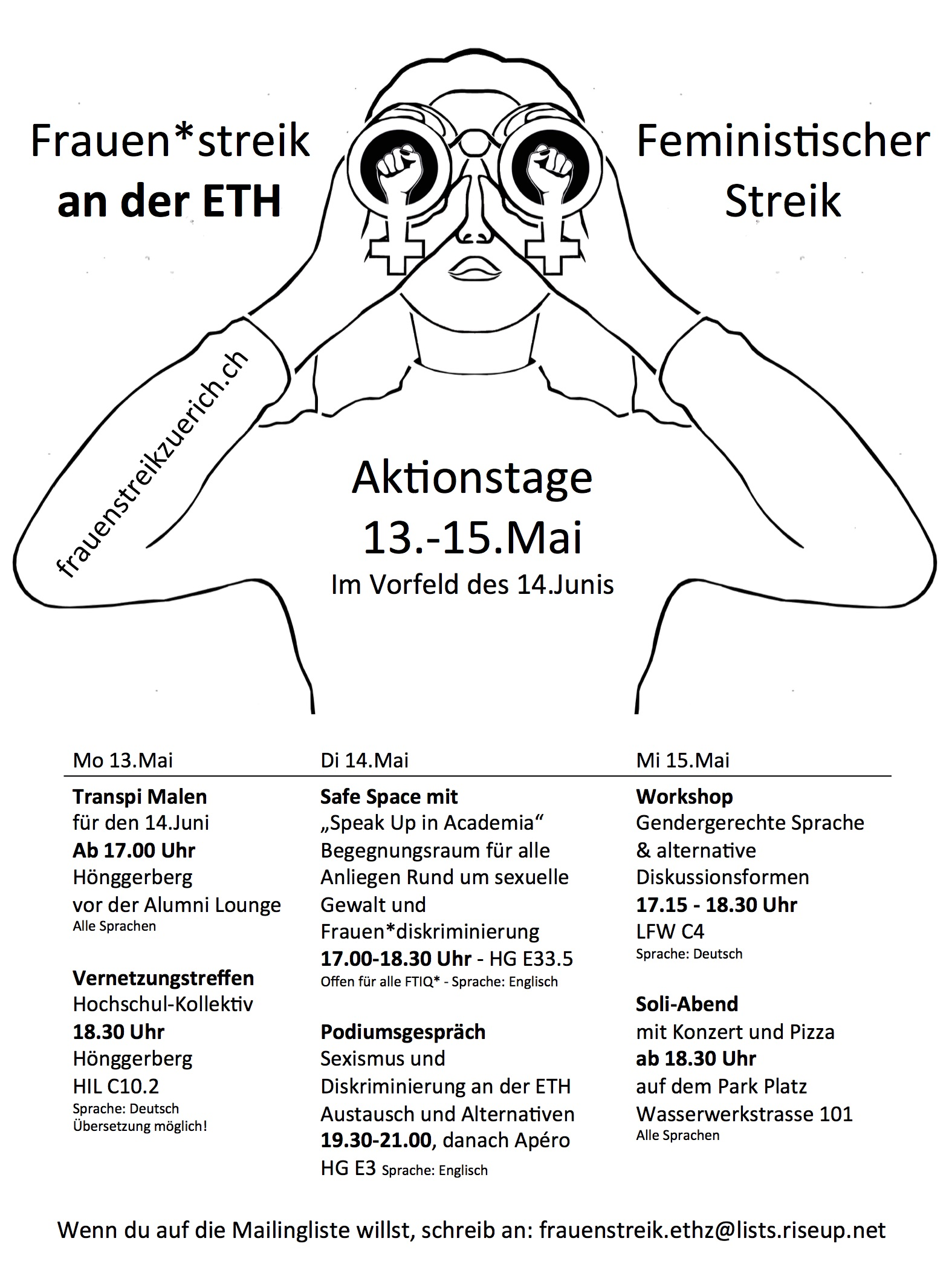 Flyer der Aktionstage an der ETH