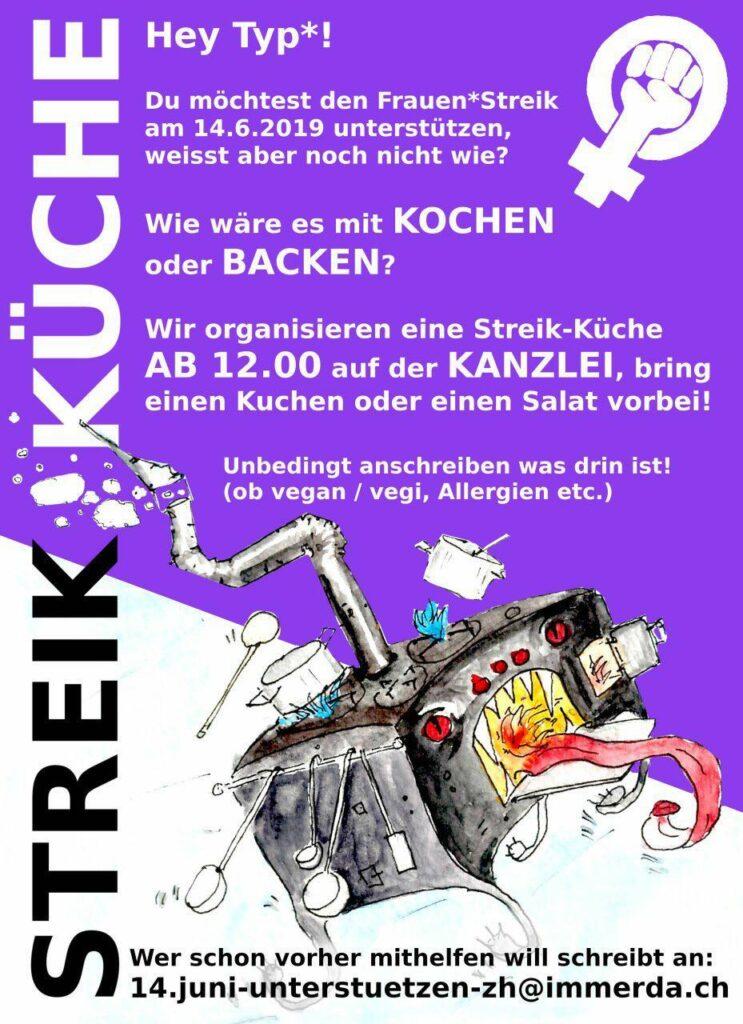Flyer Streik Küche Solimänner