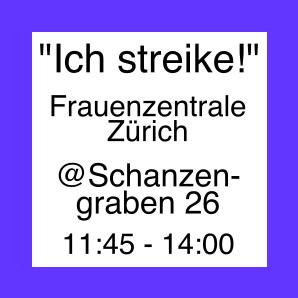 """Icon zur Aktion """"Ich Streike!"""" der Frauenzentrale"""