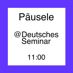 Icon fürs Päusele im Deutschen Seminar