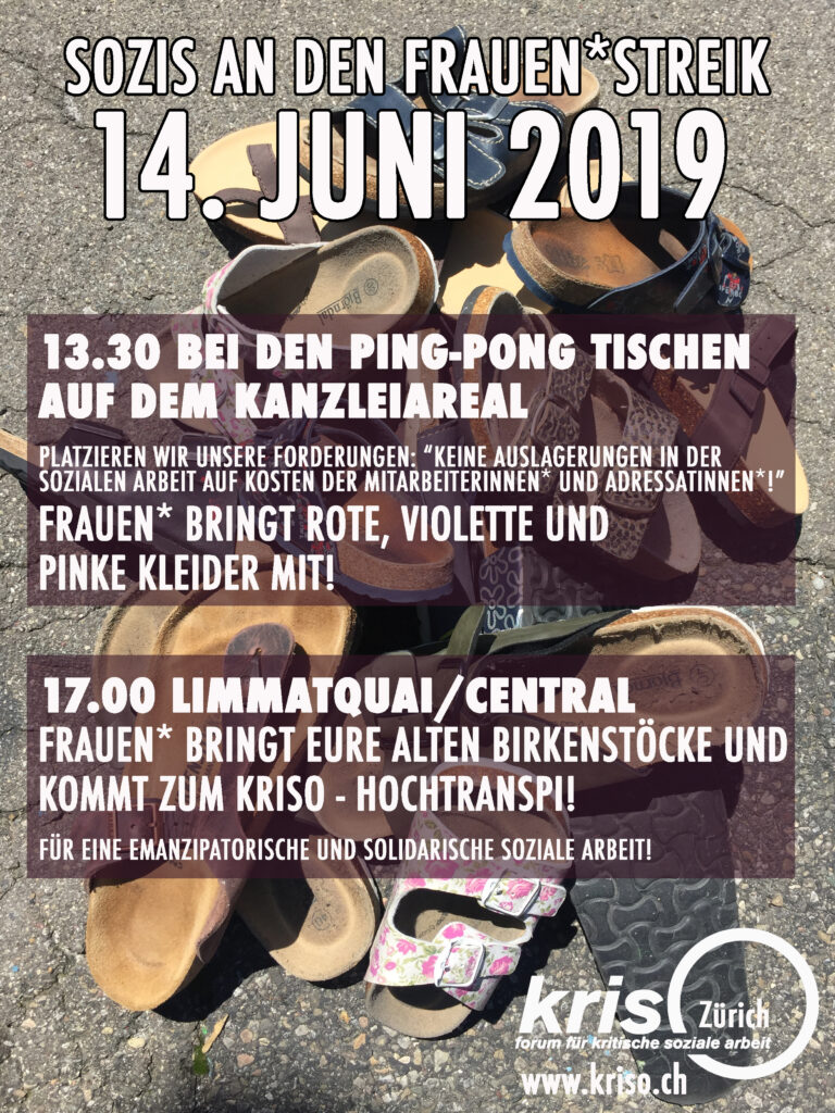 Flyer Sozis an den Frauen*streik
