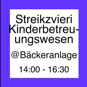 Icon zum Streikzvieri im Kinderbetreuungswesen
