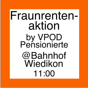 Icon zur Frauenrentenaktion der VPOD Pensionierte