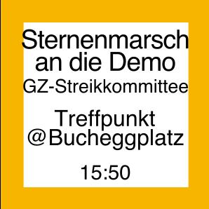 Icon für den Sternmarsch an der Demo vom Bucheggplatz aus