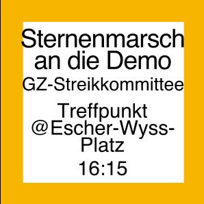 Icon für den Sternenmarsch an die Demo von Escher-Wyss-Platz aus