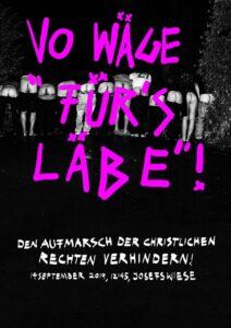 """Soliparty Gegendemo """"Marsch fürs Läbe"""" @ Provitreff"""